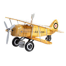 Curtis Biplane Yellow Collectible Tin Toy