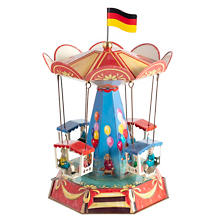 Old Fashioned Carousel Collectible Tin Toy