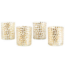 Gold Speckle Votive/Set Of 4