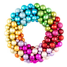 Rainbow Ball Wreath