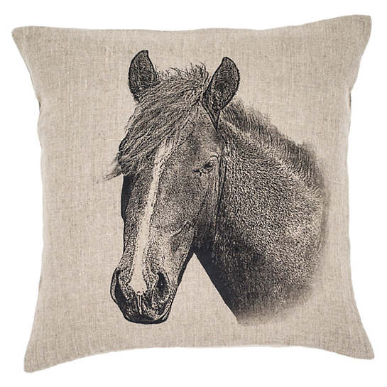 pillow products puff painterly horse