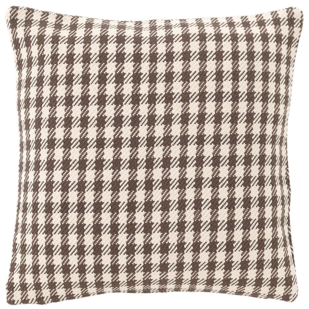Houndstooth Charcoal/Ivory Indoor/Outdoor Pillow