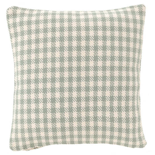 Houndstooth Light Blue/Ivory Indoor/Outdoor Pillow