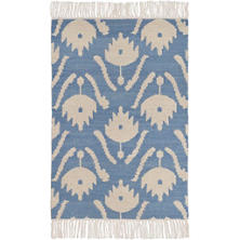 Ikat Floral Woven Wool Rug