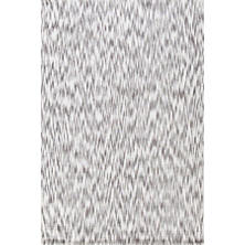 Ikat Grey Chenille Woven Rug