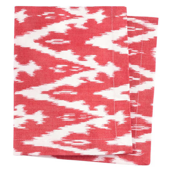 Ikat Woven Red Napkin
