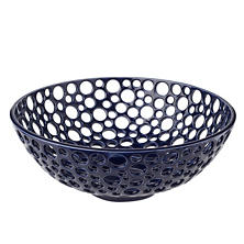Indigo Low Large Lacey Bowl