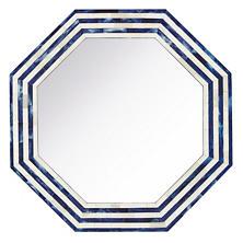Indigo Stripe Bone Inlay Mirror