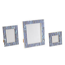 Indigo Stripe Bone Inlay Picture Frame