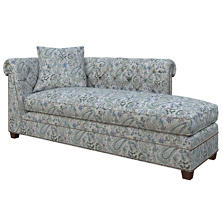 Ines Linen Blue Richmond Right Facing Chaise