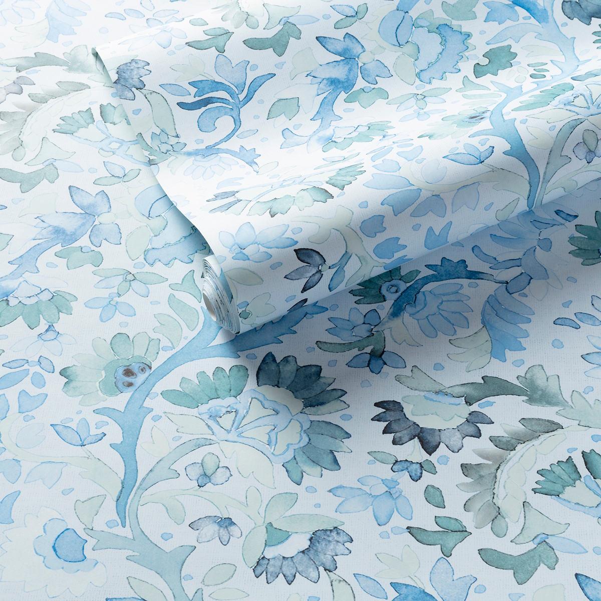 Ines Blue Wallpaper