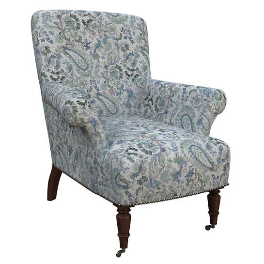 Ines Linen Blue Barrington Chair
