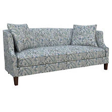 Ines Linen Blue Cheshire Sofa
