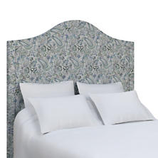 Ines Linen Blue Essex Headboard