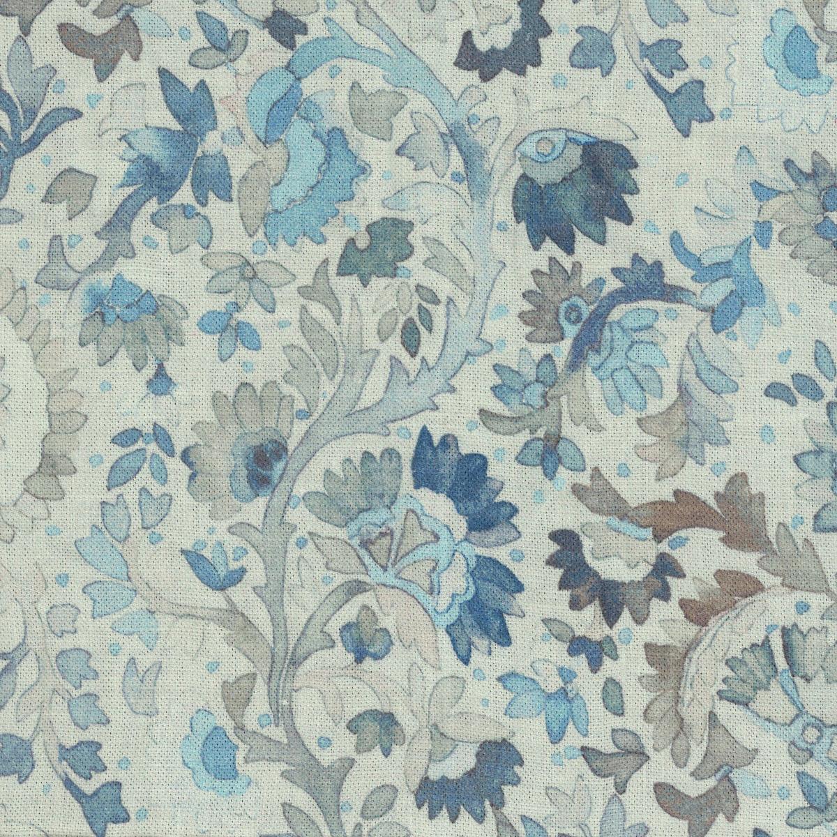 Ines Linen Blue Fabric
