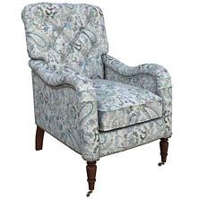 Ines Linen Blue Hancock Chair