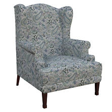 Ines Linen Blue Lismore Chair