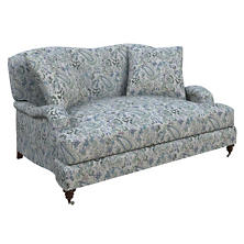 Ines Linen Blue Litchfield Loveseat