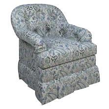Ines Linen Blue Norfolk Skirted Chair