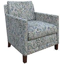 Ines Linen Blue Ridgefield Chair