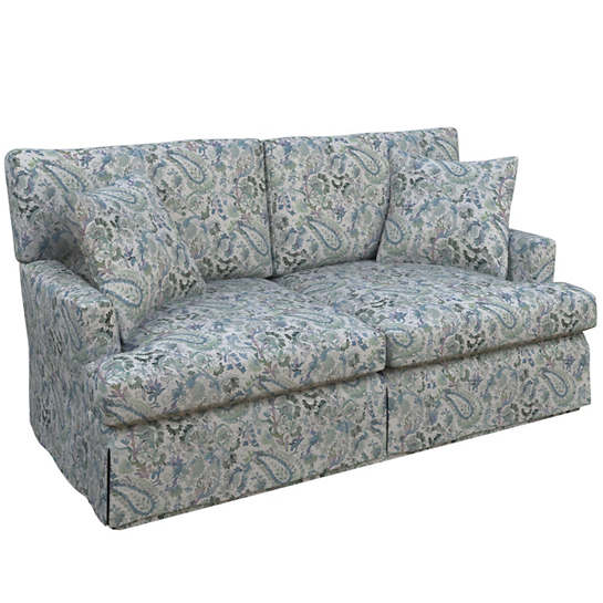 Ines Linen Blue Saybrook 2 Seater Upholstered Sofa