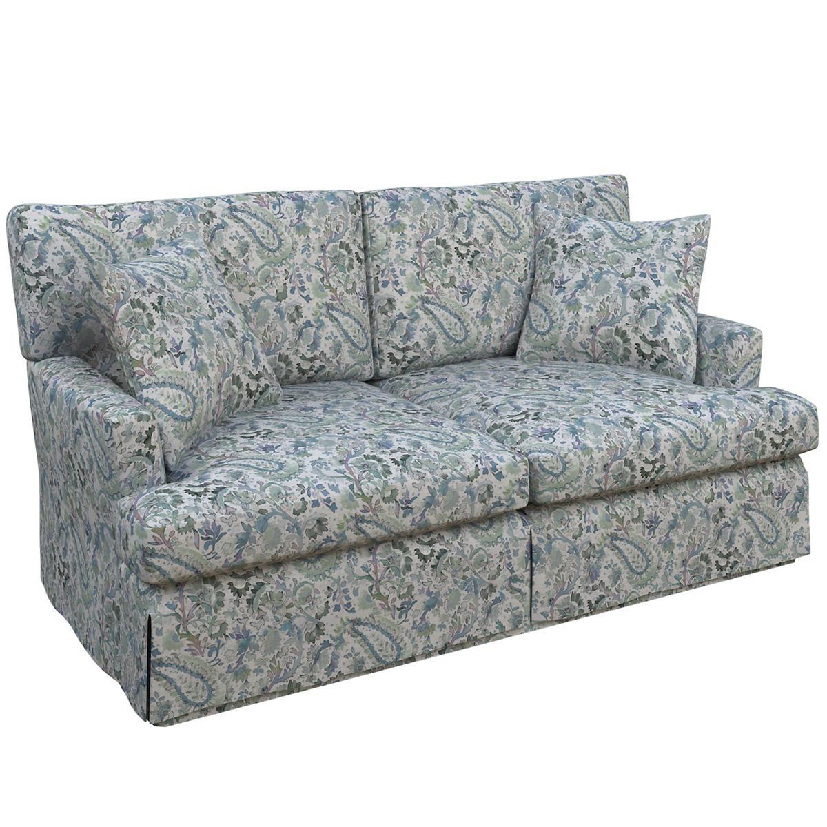 Ines Linen Blue Saybrook 2 Seater Sofa