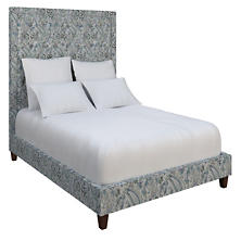 Ines Linen Blue Stonington Tufted Bed