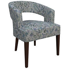 Ines Linen Blue Wright Chair