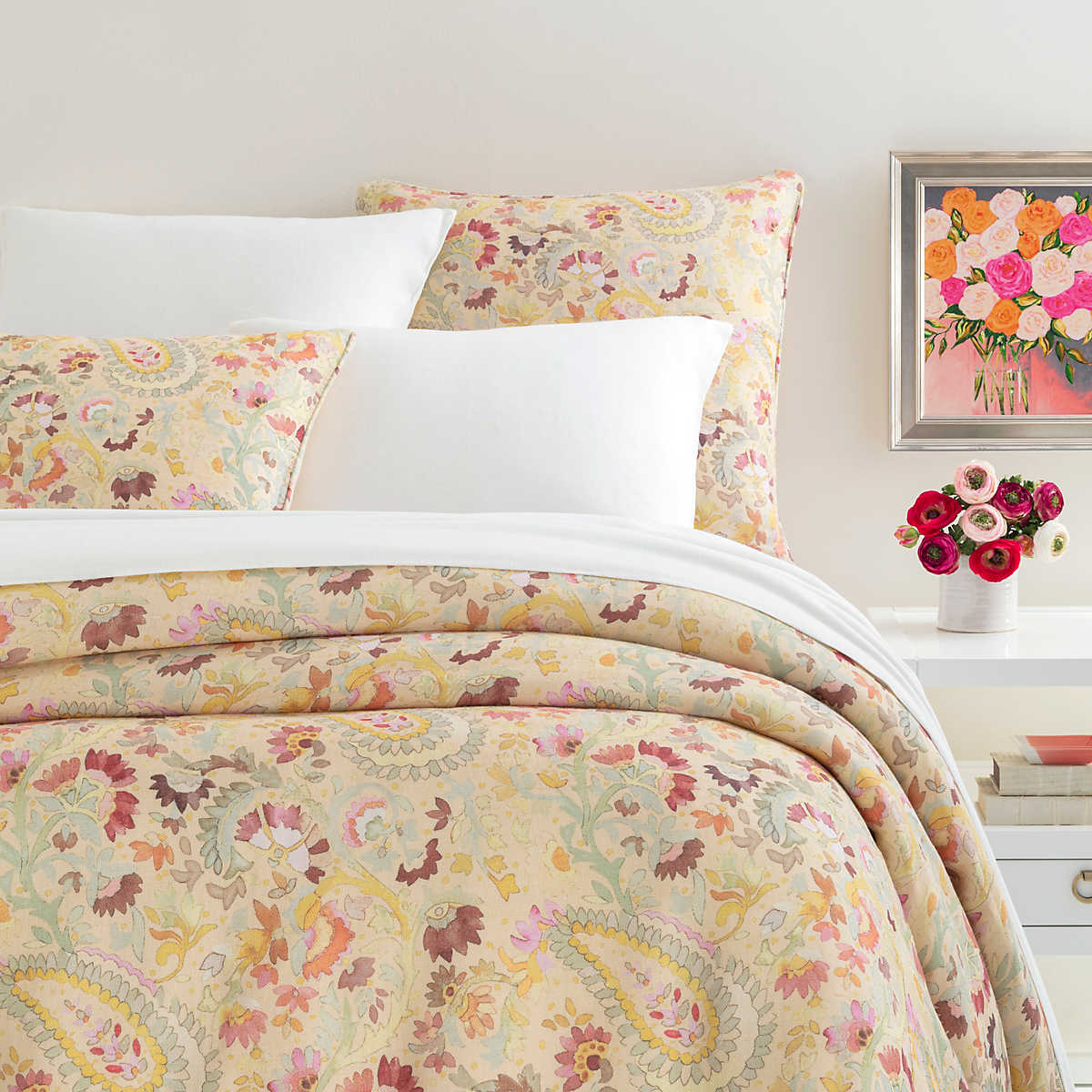 Ines Linen Duvet Cover Pine Cone Hill
