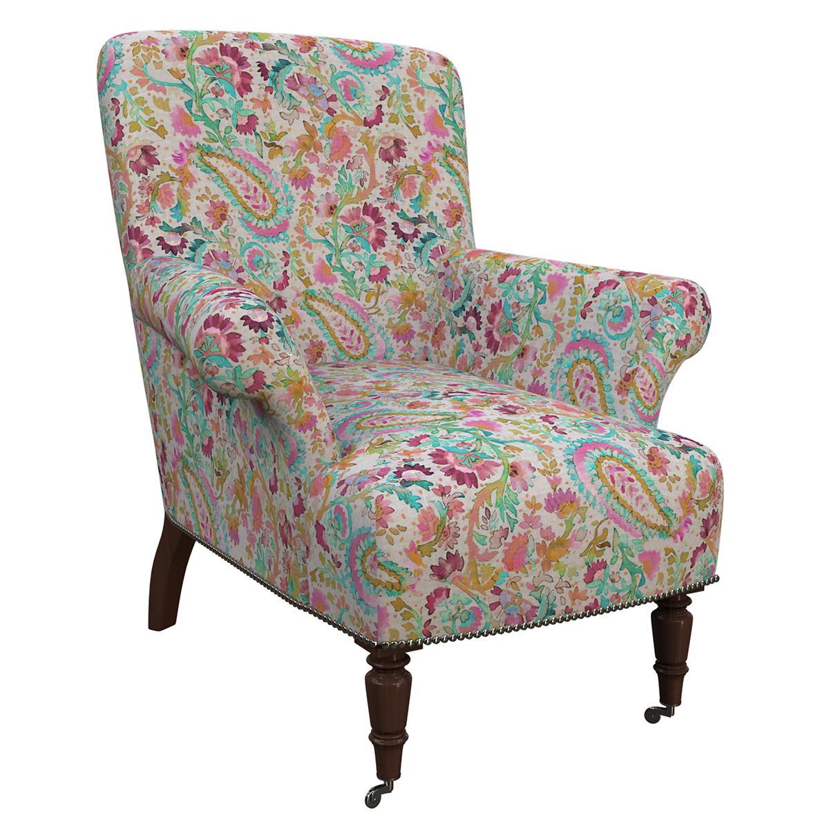 Ines Linen Grey Barrington Chair