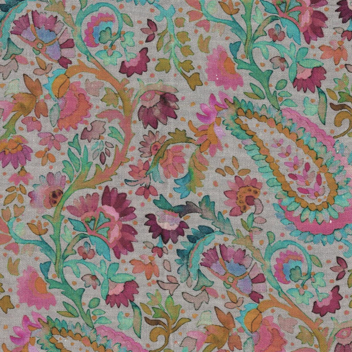 Ines Linen Grey Fabric