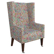 Ines Linen Grey Neo-Wing Chair