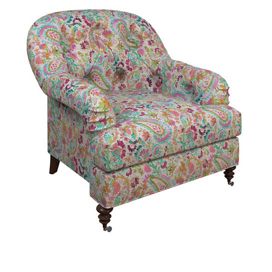 Ines Linen Grey Norfolk Chair