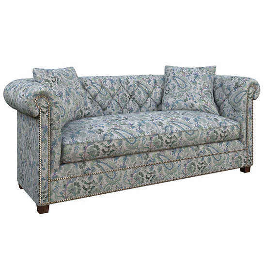 Ines Linen Blue Richmond Sofa