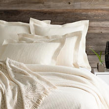 Interlaken Ivory Matelassé Coverlet