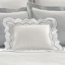 Isabella White/Delphinium Decorative Pillow