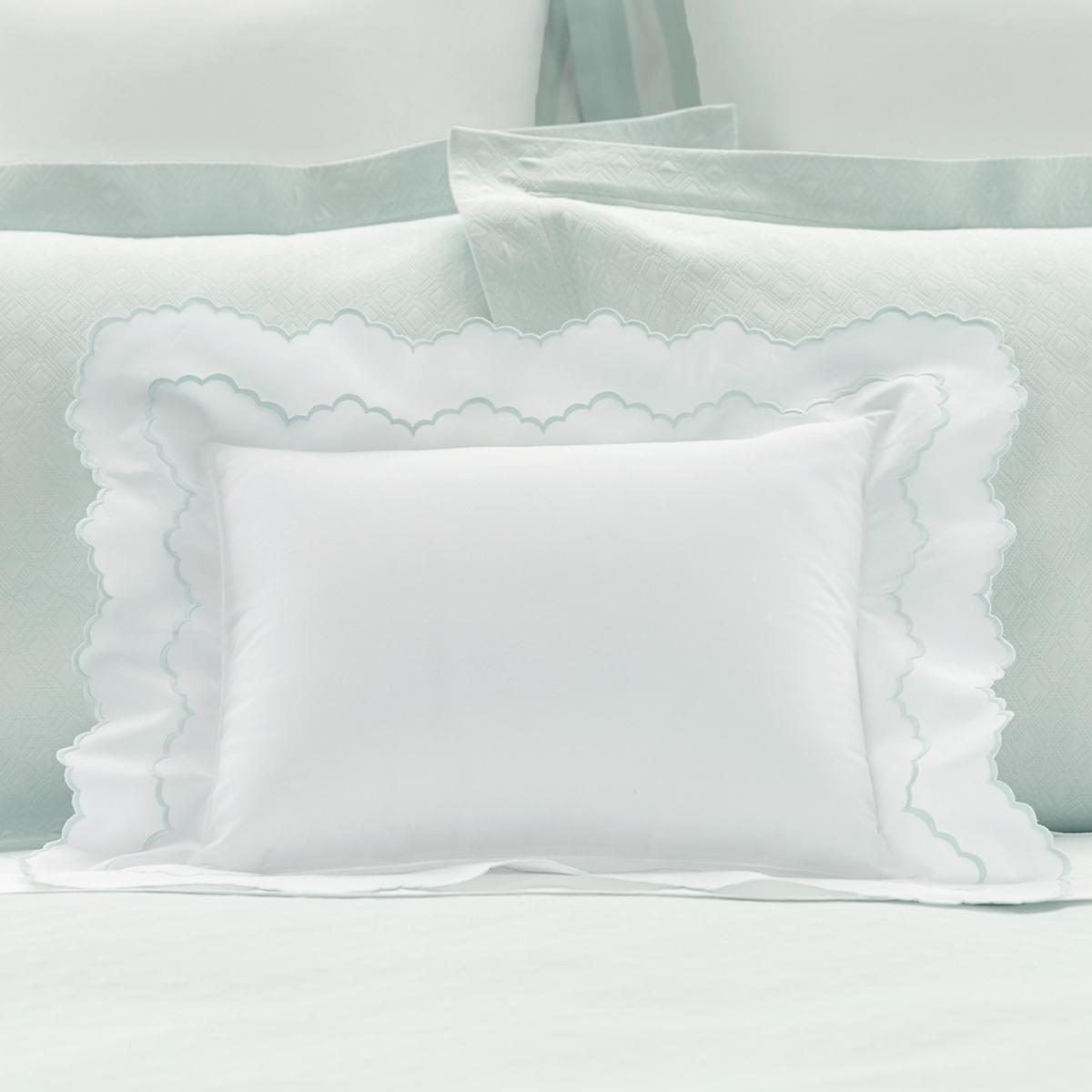 Isabella White/Pearl Blue Decorative Pillow