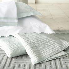 Isabella White/Pearl Blue Pillowsham