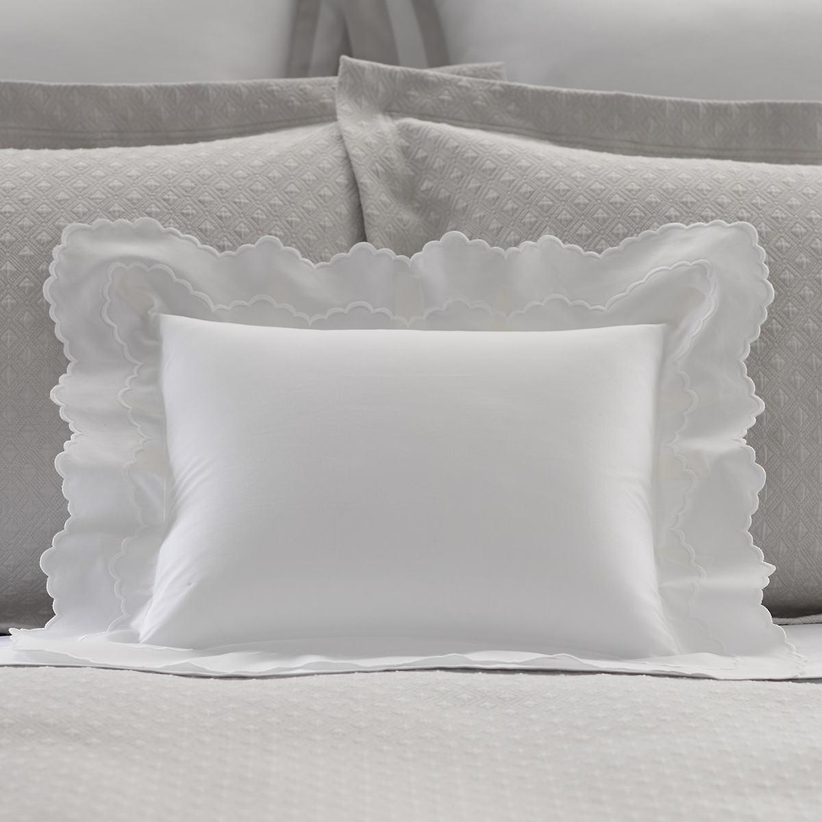 Isabella White/White Decorative Pillow