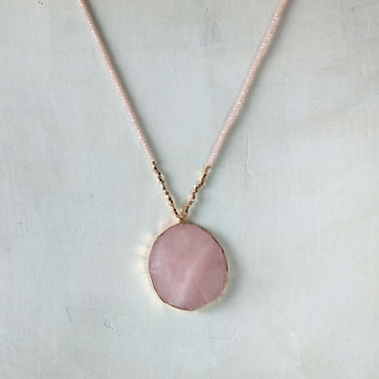 Belle Pink Quartz Necklace