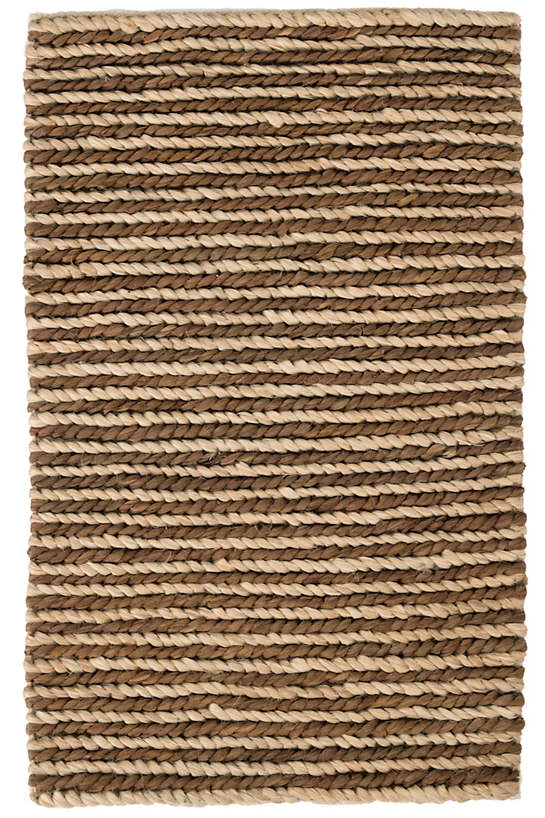 Jute Woven Two-Tone Natural/Charcoal Rug