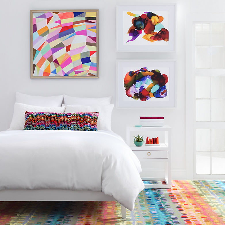How to Add Pops of Color to an All-White Bedroom - Fresh American Style