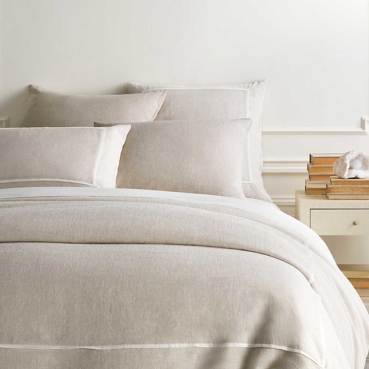 Keaton Linen Natural Duvet Cover Pine Cone Hill