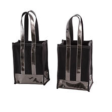 Kelley Canvas Black/Pewter Tote Bag
