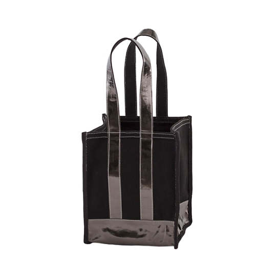Kelley Canvas Black/Pewter Compartment Tote Bag