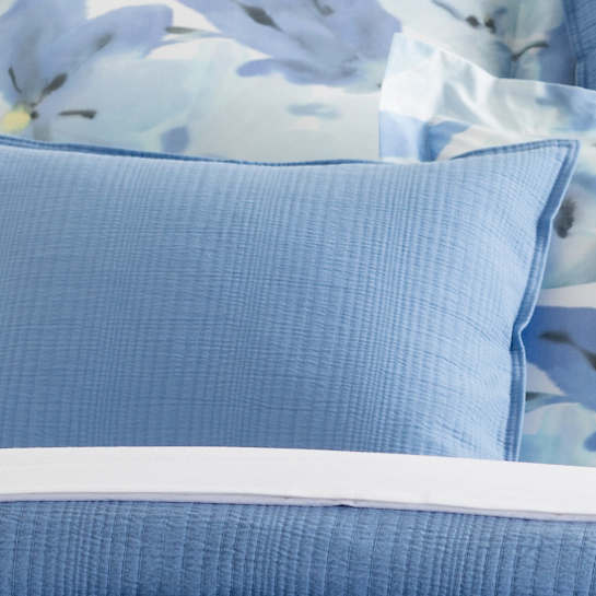 Kelly French Blue Matelassé Sham