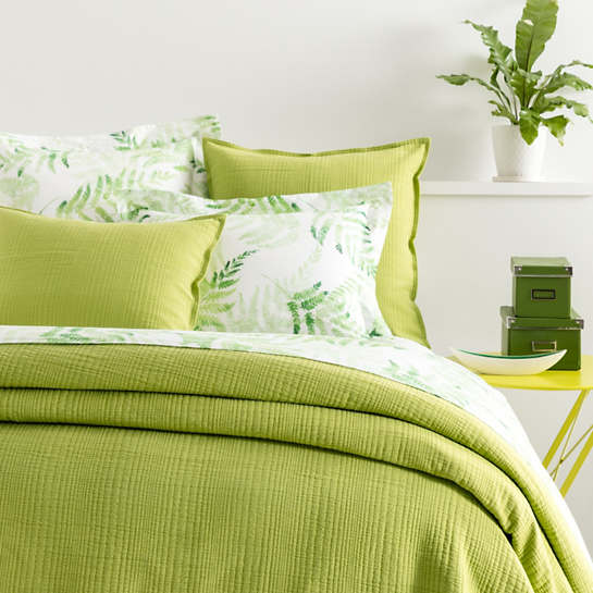 Well known Kelly Green Matelassé Coverlet | Pine Cone Hill XW96
