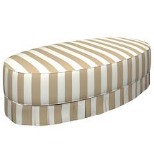Alex Linen Kendall Box Pleat Ottoman