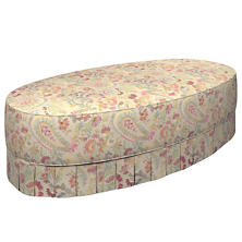 Ines Linen Kendall Box Pleat Ottoman