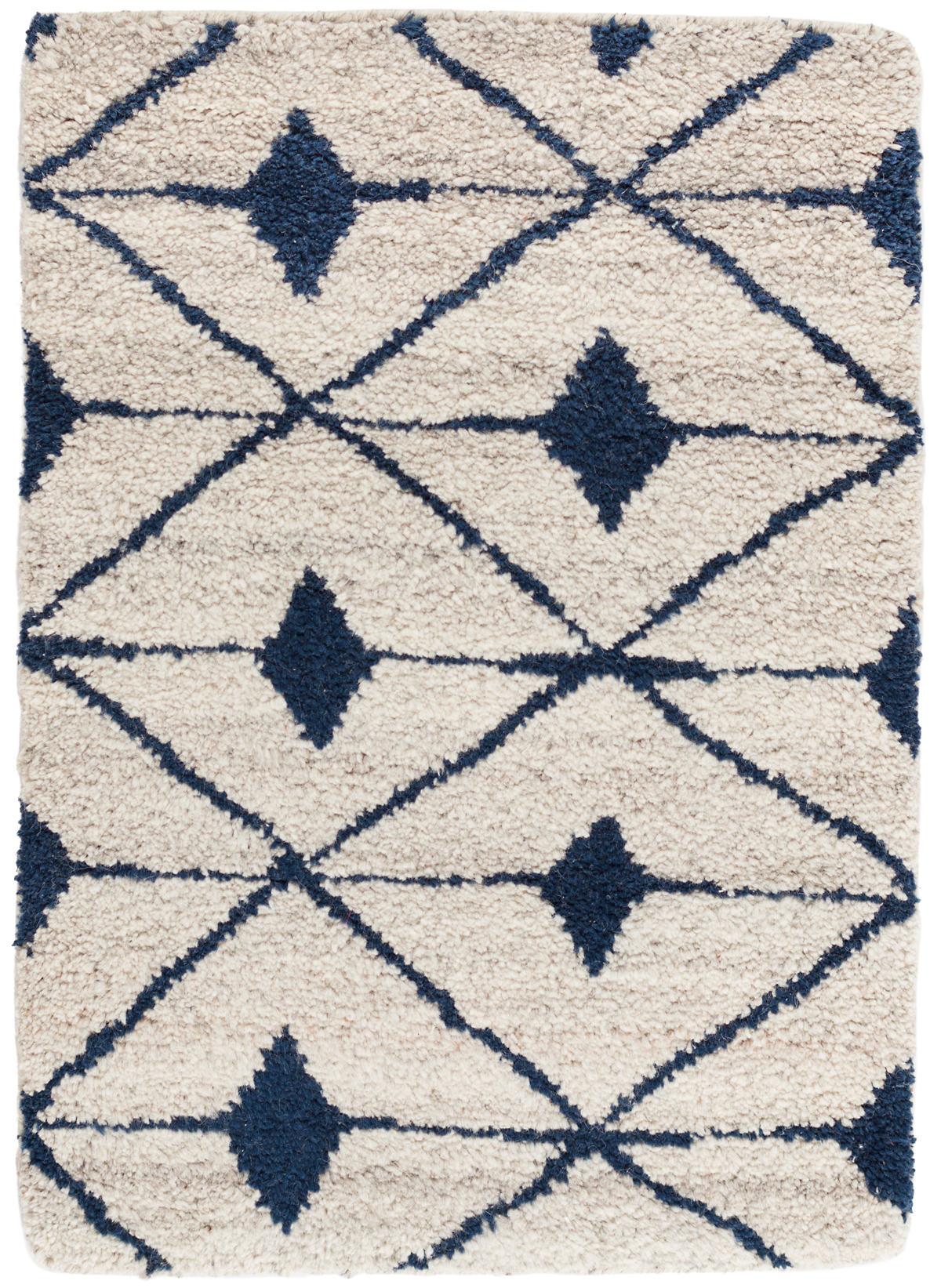 Kenitra Indigo Hand Knotted Wool Rug